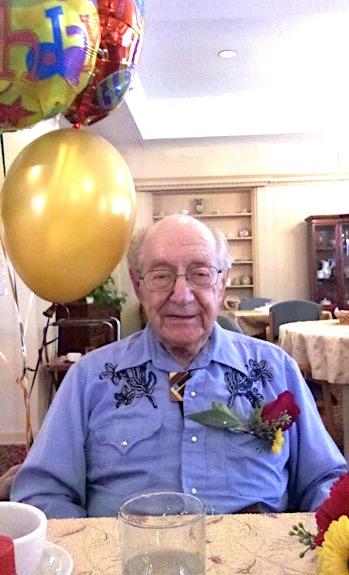 Paula's dad on his 90th birthday.